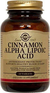 Solgar Cinnamon Alpha Lipoic Acid 150 MG -60 Tablets - Vitamins Emporium