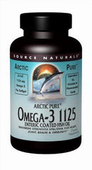 Source Naturals ArcticPure Omega-3 1125 Enteric Coated Fish Oil Maximum Strength EPA/DHA for Heart, Joint, Brain & Immunity Health - 60 Softgels