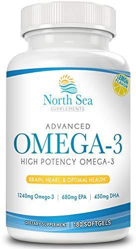 Advanced Ultimate Omega 3 Fish Oil – High Potency, Molecularly Distilled, Burpless - Omega 3, EPA, DHA To Support and Promote Heart, Brain, and Immune Health - Vitamins Emporium