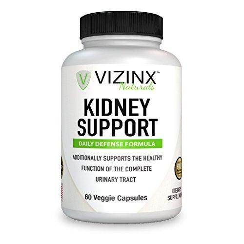 VIZINX Kidney Support 60 Caps- Daily Defense Formula for The Complete Urinary Tract Contains VITACRAN Cranberry Extract, Astragalus, Buchu Leaf, Goldenrod Herb, Uva Ursi Stinging Nettles and More - Vitamins Emporium