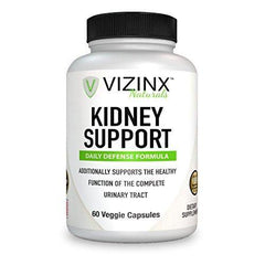 VIZINX Kidney Support 60 Caps- Daily Defense Formula for The Complete Urinary Tract Contains VITACRAN Cranberry Extract, Astragalus, Buchu Leaf, Goldenrod Herb, Uva Ursi Stinging Nettles and More