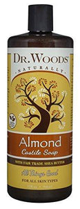 Dr. Woods Pure Almond Castile Soap with Organic Shea Butter 32 Ounce - Vitamins Emporium