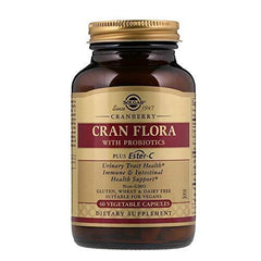 Solgar - CRAN FLORA with Probiotics Plus Ester-C  Vegetable Capsules 60 Count