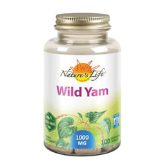 Nature's Life Wild Yam 1000mg Herbal Supplement | Women's Health Formula | With Diosgenin for Healthy Balance Support | Non-GMO | 100 Veg Caps