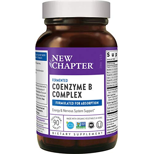New Chapter Vitamin B Complex - Coenzyme B Complex with Vitamin B12 + Vitamin B6 + Biotin + Organic Non-GMO Ingredients - 90 ct