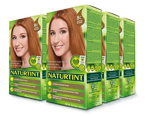 Naturtint Permanent Hair Color - 8C Copper Blonde, 5.6 fl oz (6-pack) - Vitamins Emporium