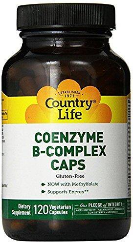 Country Life - Coenzyme B-Complex with Methylfolate - 120 Vegan Capsules - Vitamins Emporium