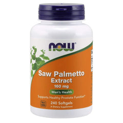 NOW Supplements, Saw Palmetto Extract 160 mg, 240 Softgels