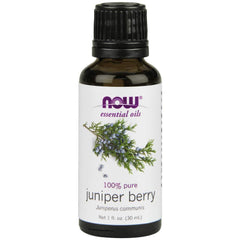 NOW Essential Oils, Juniper Berry Oil, Restoring Aromatherapy Scent, Steam Distilled, 100% Pure, Vegan, 1-Ounce