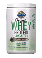 Garden of Life Certified Organic Grass Fed Whey Protein Powder - Chocolate, 12 Servings - 21g California Grass Fed Protein plus Probiotics, Non-GMO, Gluten Free, rBST & rBGH Free, Humane Certified