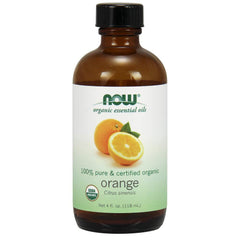 Now Essential Oils, Organic Orange Oil, 4-Ounce