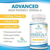 Advanced Ultimate Omega 3 Fish Oil – High Potency, Molecularly Distilled, Burpless - Omega 3, EPA, DHA To Support and Promote Heart, Brain, and Immune Health