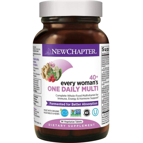 New Chapter Women's Multivitamin, Every Woman's One Daily 40+ Fermented with Probiotics + Vitamin D3 + B Vitamins + Organic Non-GMO Ingredients - 96 ct (Packaging May Vary) - Vitamins Emporium