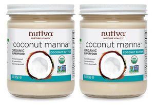 Nutiva Organic Coconut Manna from Fresh, non-GMO, Sustainably Farmed Coconuts, 15-ounce (Pack of 2) - Vitamins Emporium