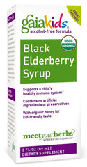 Gaia Herbs Gaia Kids Black Elderberry Syrup, 3 Ounce - Delicious Daily Immune Support with Antioxidants, Organic Sambucus Elderberry