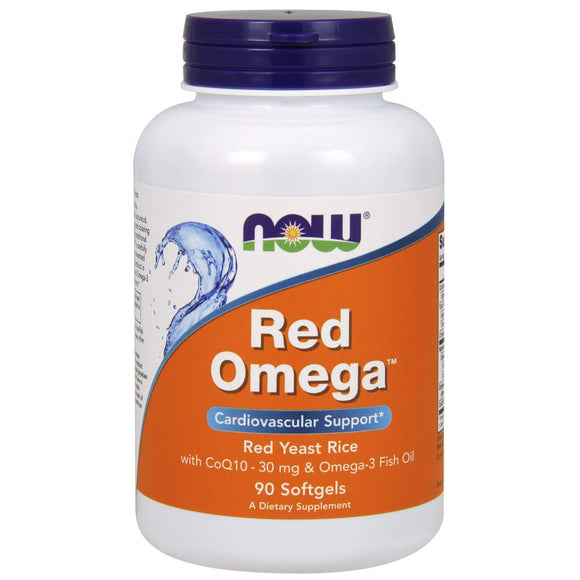 NOW Foods - Red Omega Red Yeast Rice With CoQ10 30 mg. - Vitamins Emporium