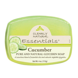 Clearly Natural Glycerin Bar Soap, Cucumber, 4 Ounce - Vitamins Emporium