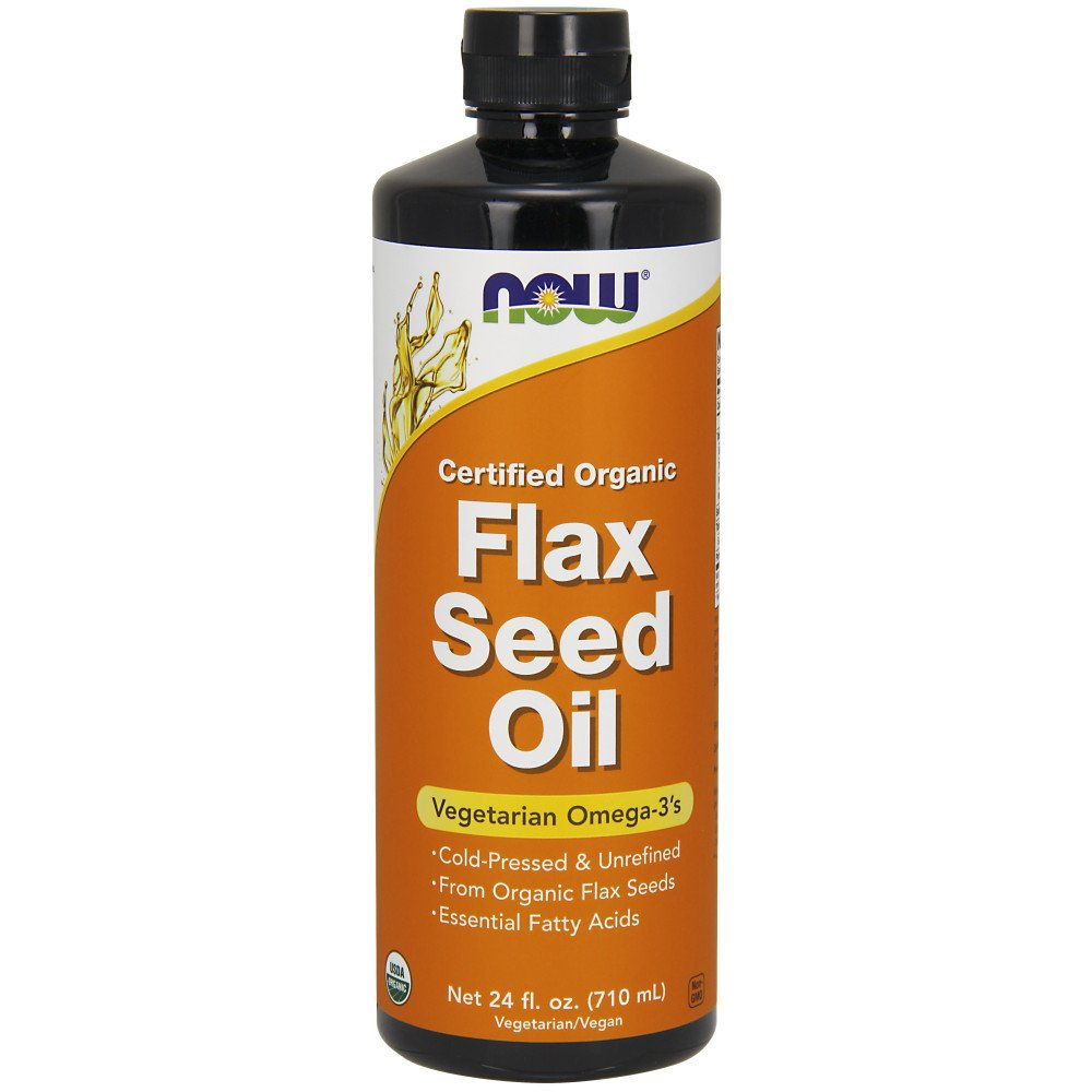 NOW Foods - Flax Seed Oil Organic Non