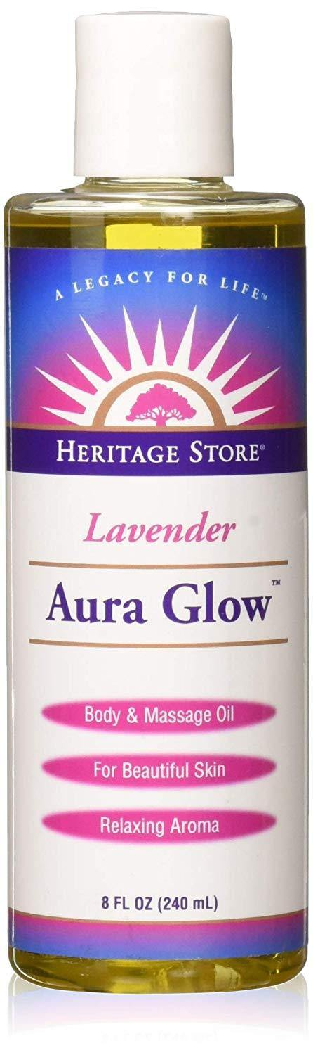 Heritage Products Aura Glow, Lavender Scent, 8 Fluid Ounces (240 ml) - Vitamins Emporium