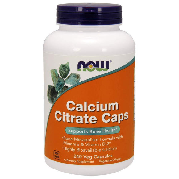 Now Supplements, Calcium Citrate with Vitamin D, Magnesium, Zinc, Copper, and Manganese, 240 Veg Capsules - Vitamins Emporium