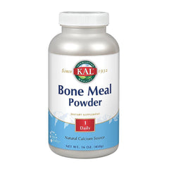 KAL Bone Meal Powder | Sterilized & Edible Supplement Rich in Calcium, Phosphorus, Magnesium | for Bones, Teeth, Nerves, Muscular Function | 16 oz