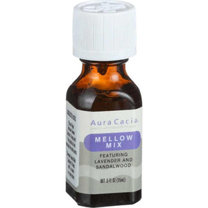 Essential Solutions Mellow Mix Aura Cacia 0.5 oz Liquid - Vitamins Emporium