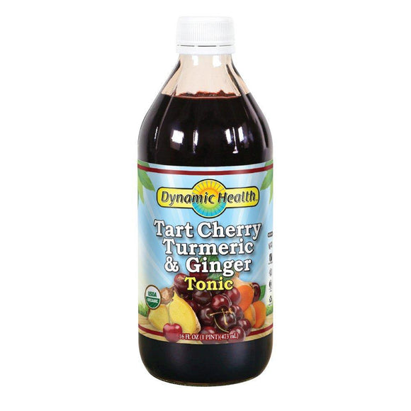 Dynamic Health Tart Cherry Turmeric and Ginger Tonic Supplement, 16 Ounce - Vitamins Emporium
