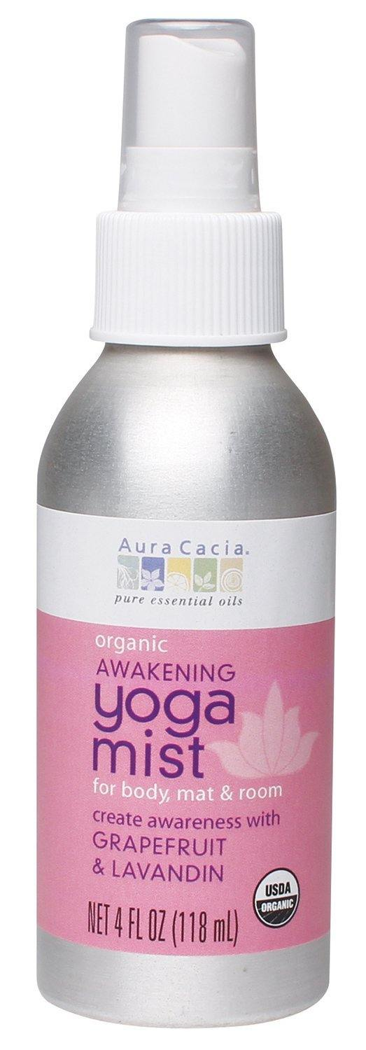 Aura Cacia Organic Body, Mat and Room Yoga Mist, Motivating Sweet Orange and Peppermint, 4 Fluid Ounce - Vitamins Emporium