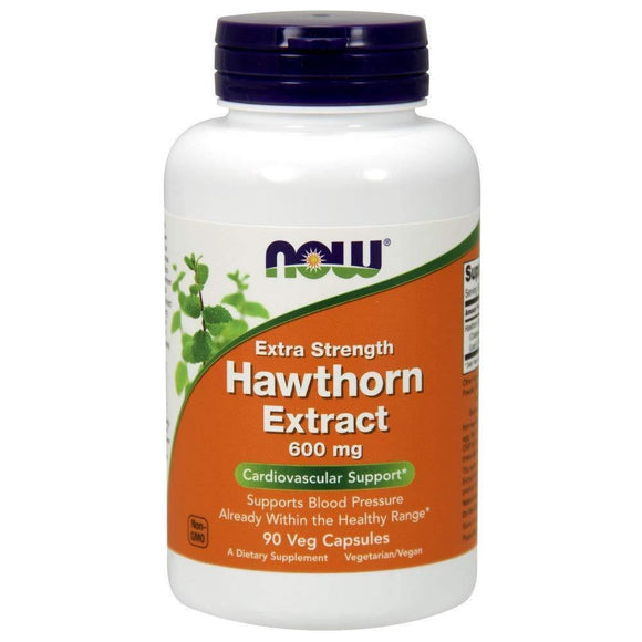 NOW Supplements, Hawthorn Extract, Extra Strength 600 mg, 90 Veg Capsules - Vitamins Emporium