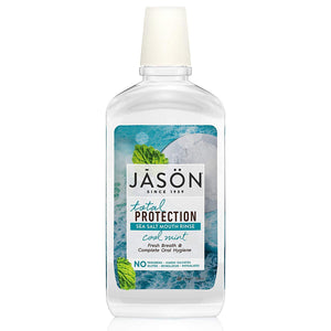 JASON Total Protection Sea Salt Mouth Rinse, Cool Mint, 16 oz. (Packaging May Vary) - Vitamins Emporium