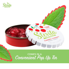 Stevita Stevia Sweet Candy Natural Cherry Flavor - 1.4 Ounces - Sugar Free Hard Candy, Stevia Sweetened - USDA Organic, Non GMO, Keto, Paleo, Gluten-Free - 26 Servings