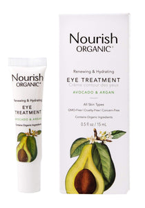 Nourish Organic Renewing + Cooling Eye Treatment, Avocado and Argan Oil, 0.5 Ounce - Vitamins Emporium