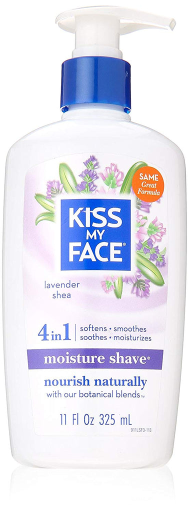 Kiss My Face - Lavender And Shea Moisture Shave, 11 fl oz cream