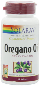 Solaray Oregano Oil 70% Carvacrol Supplement, 60 Count - Vitamins Emporium