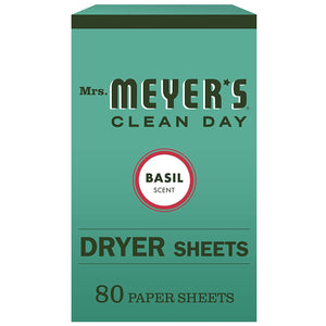 Mrs. Meyers Clean Day Dryer Sheets, Basil - Vitamins Emporium