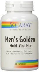 Solaray Men's Golden Multi-Vitamin Capsules, 90 Count