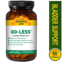 Country Life Go Less - Supports Bladder Health for Men and Women - 60 Vegan Capsules
