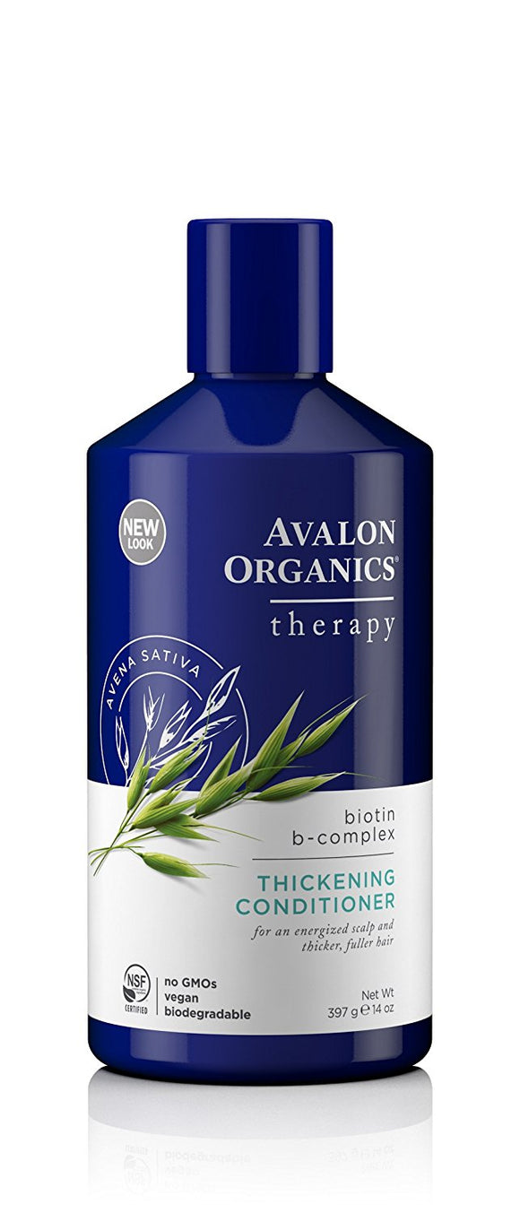 Avalon Organics Biotin B-Complex Thickening Conditioner, 14 Ounce - Vitamins Emporium