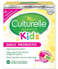 Culturelle Kids Packets Daily Probiotic Formula, One Per Day Dietary Supplement, Contains 100% Naturally Sourced Lactobacillus GG -The Most Clinically Studied Probiotic†, 30 Count (Package May Vary)