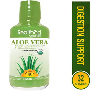 Country Life - Realfood Organics Basic Aloe Liquid - 32 Ounce - Vitamins Emporium