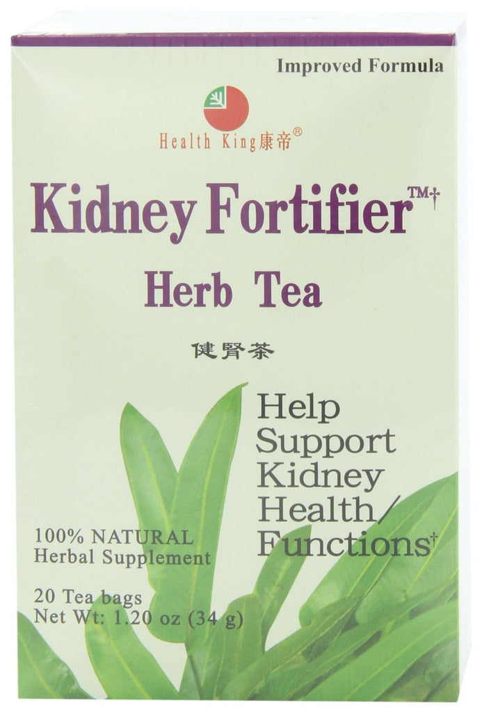 Health King  Kidney Fortifier Herb Tea, Teabags, 20-Count Box (Pack of 4)