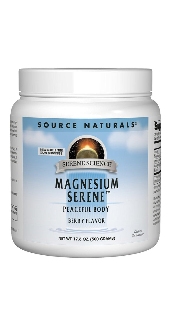Source Naturals Serene Science Magnesium Serene Berry Flavored, Peaceful Body, 17.6 Ounces - Vitamins Emporium