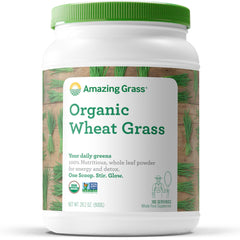 Amazing Grass Organic Wheat Grass Powder: 100% Whole-Leaf Wheat Grass Smoothie Booster, 100 Servings