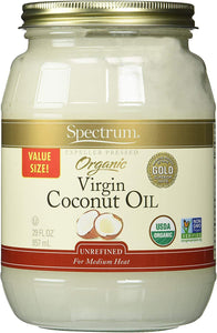 Spectrum Naturals Organic Virgin Coconut Oil, 29 Ounce - Vitamins Emporium