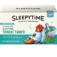Celestial Seasonings Wellness Tea, Sleepytime Throat Tamer, 20 Count Box