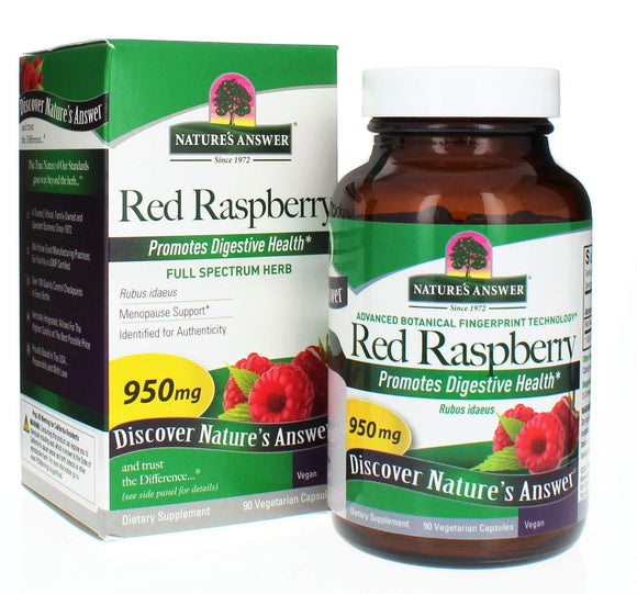 Nature's Answer Red Raspberry Leaf Vegetarian Capsules, 90-Count - Vitamins Emporium