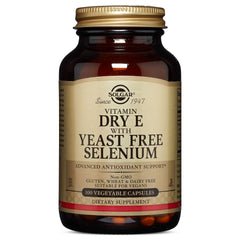 Solgar - Dry Vitamin E with Yeast Free-Selenium, 100 Vegetable Capsules