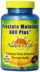 Nature's Life Prostate Maintain 600+ Veg Capsules, 100 Count