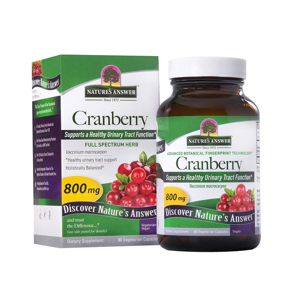 Nature's Answer Cranberry Fruit Vegetarian Capsules, 90-Count - Vitamins Emporium
