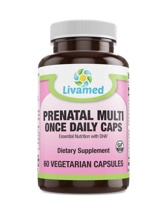 Livamed - Prenatal Once Daily Veg Caps 60 Count - Vitamins Emporium